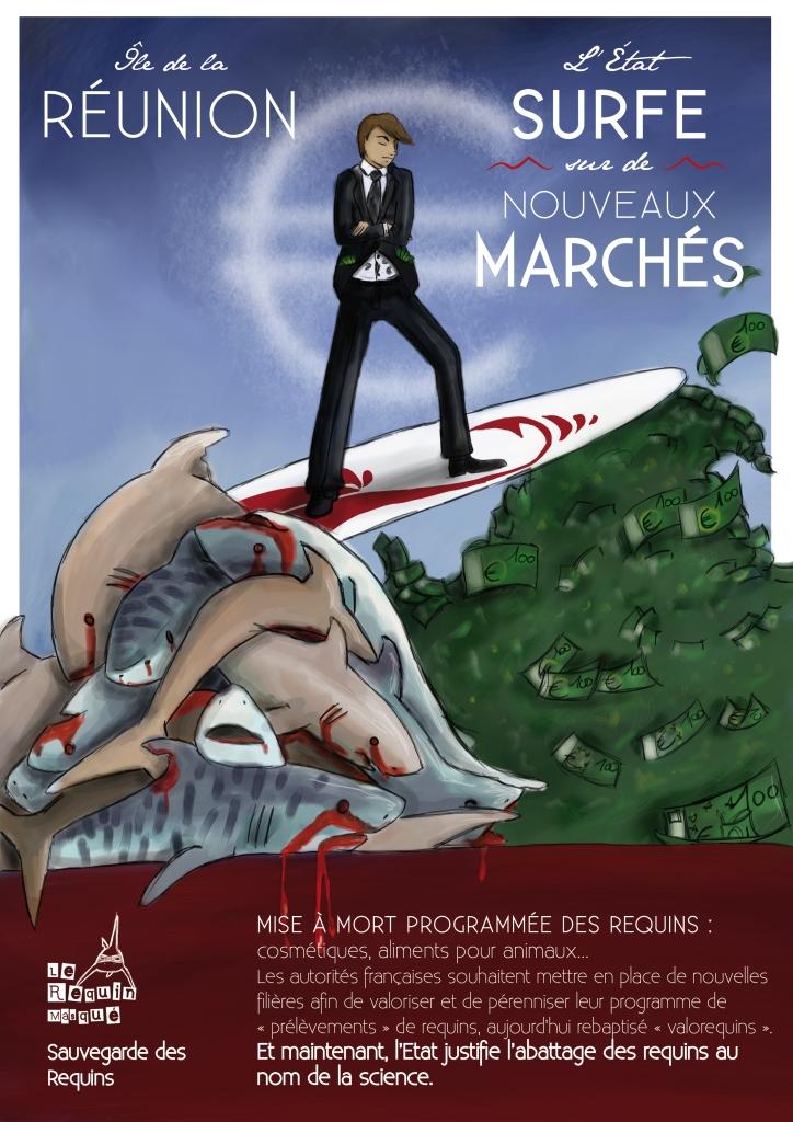 """Pétition """"NON à l'octroi de 8 millions d'euros par l'Europe à l'Etat français pour tuer des requins à La Réunion"""""""